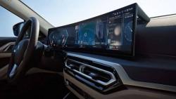 Изогнутый дисплей BMW.