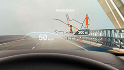 Проекційний дисплей BMW